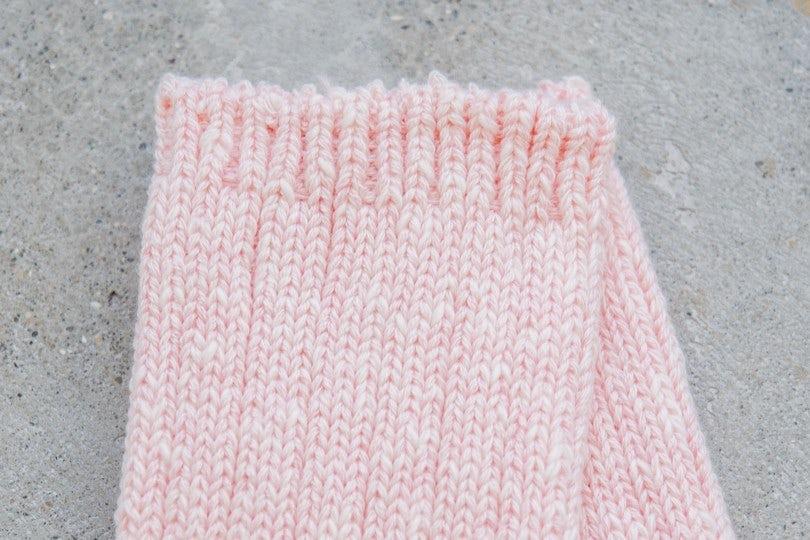 Kapital 56 Yarns 3x1 Rib Heel Smilie Socks Pink