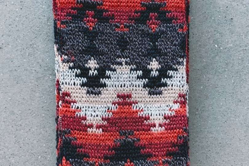 AnonymousIsm Crew Sock  Fairisle Red/White/Black