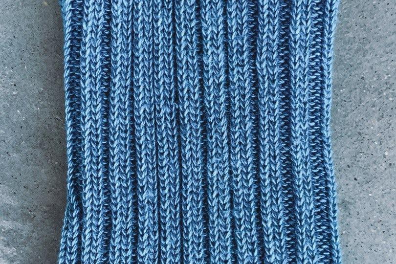 AnonymousIsm Crew Sock Light Blue Rib