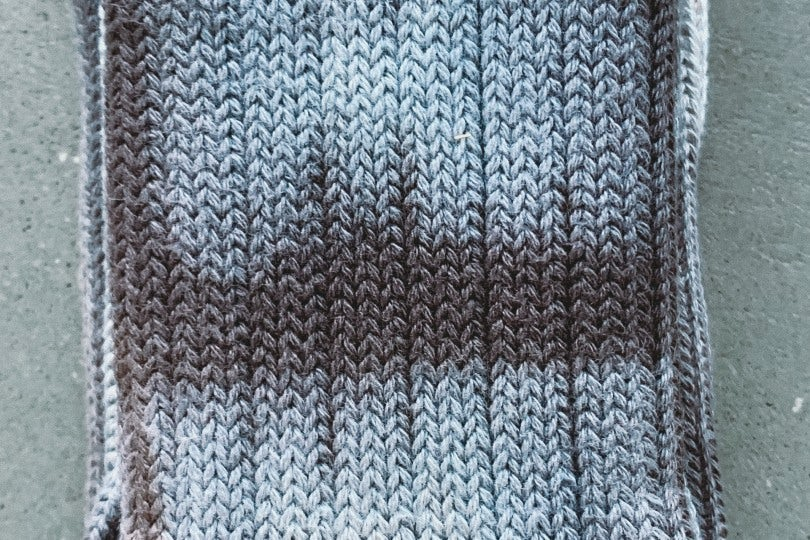 AnonymousIsm Crew Sock Turquoise Tie Dye