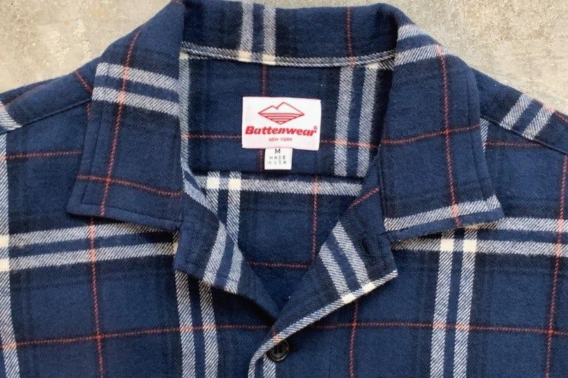 Battenwear Five Pocket Canyon Shirt Blue Plaid