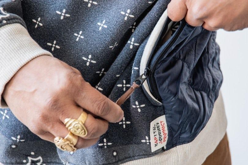 Kapital Fleecy Knit Bandana BIVOUAC BIG SWT Black