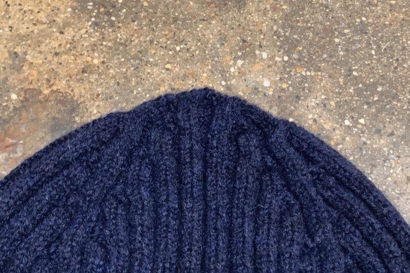 Drake's Beanie Classic Rib Hat Oxford