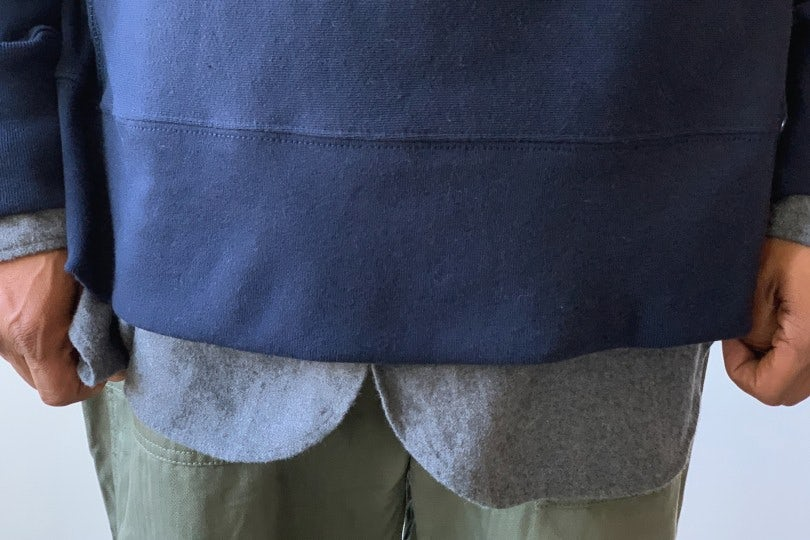 Engineered Garments Plain Raglan Crew  Navy