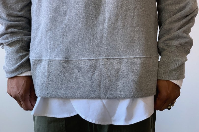 Engineered Garments Plain Raglan Crew Grey