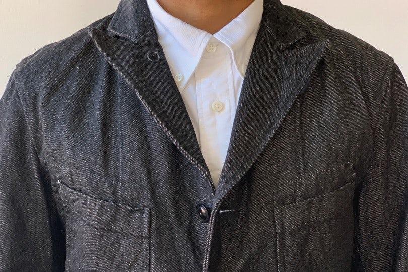 Engineered Garments Bedford Jacket  Black 12oz Cone Denim