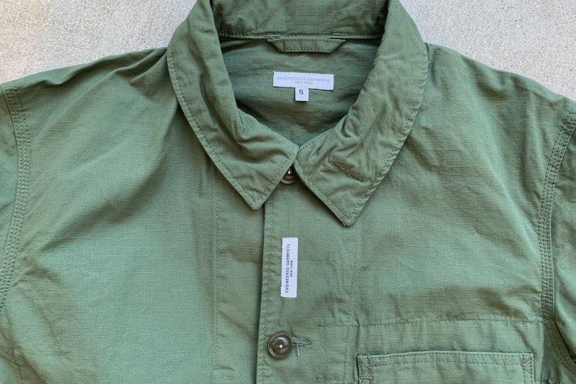 Engineered Garments Work Jacket Olive Ripstop