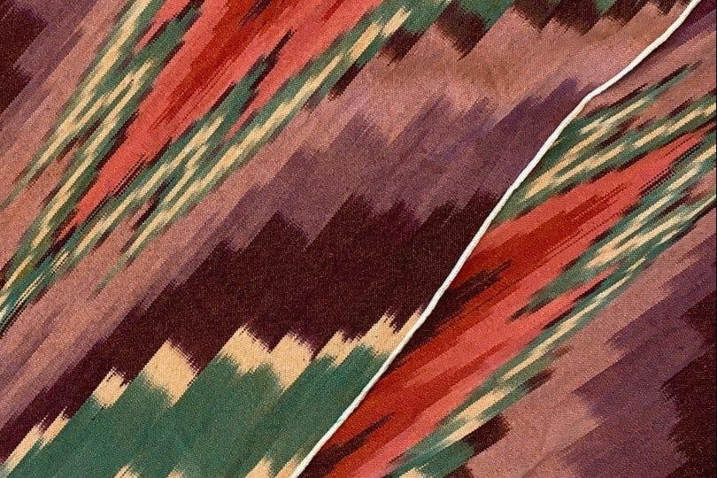 Engineered Garments Long Scarf Purple Green Twill