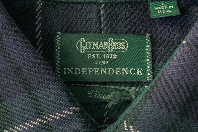 Gitman Bros. Vintage Two Pocket Flannel Blackwatch Triple Yarn