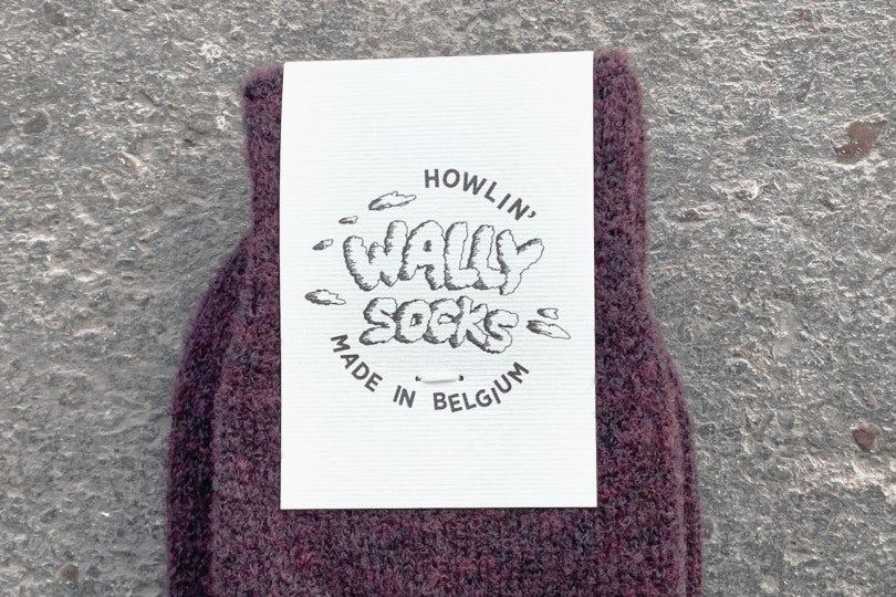 Howlin' Wally Socks Purple