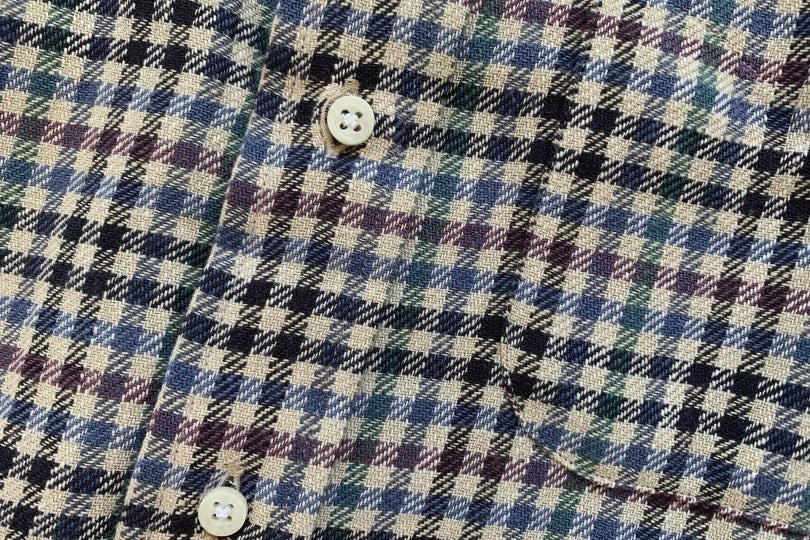 Gitman Bros. Vintage Long Sleeve Button Down  Navy Gingham