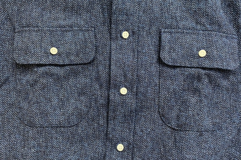 Gitman Bros. Vintage Longsleeve Button Down Navy Cotton Tweed