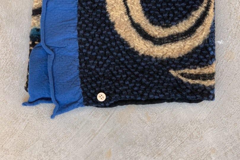 Kapital Scarf Compressed Wool Scarf 5 RINGS