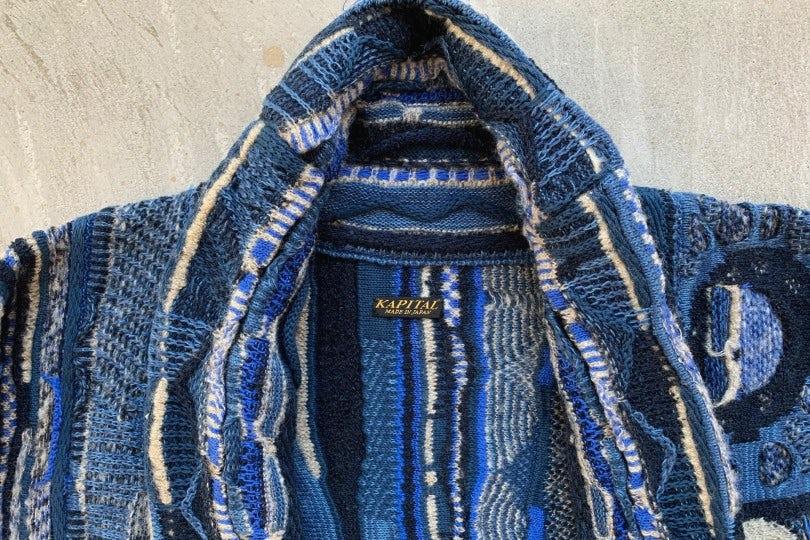 Kapital 7G Knit BORO Gaudy Cardigan Cardigan