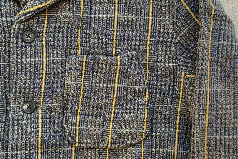 Kapital Tweed Fleecy Knit KOBE Jacket Grey
