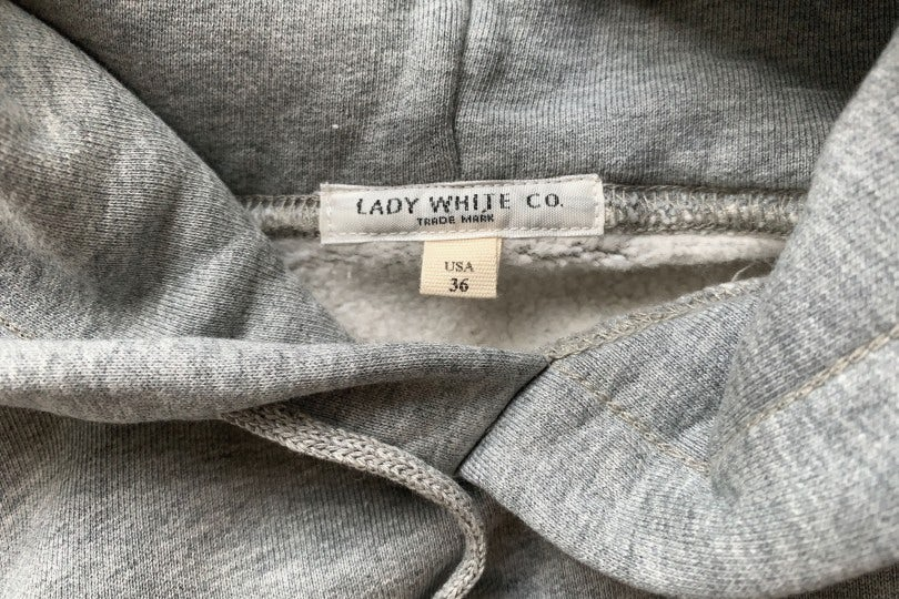 Lady White Co. Hoodie Heather Grey Hooded Sweatshirt