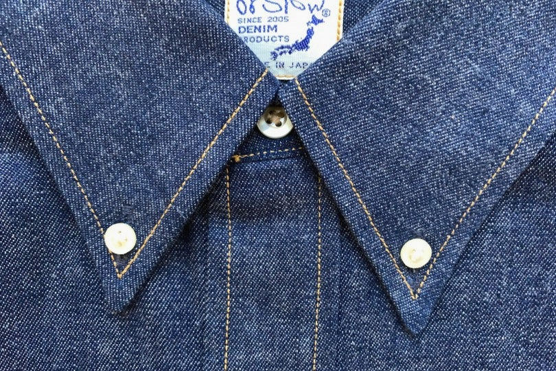 Orslow Button Down Shirt 80 Rigid Denim