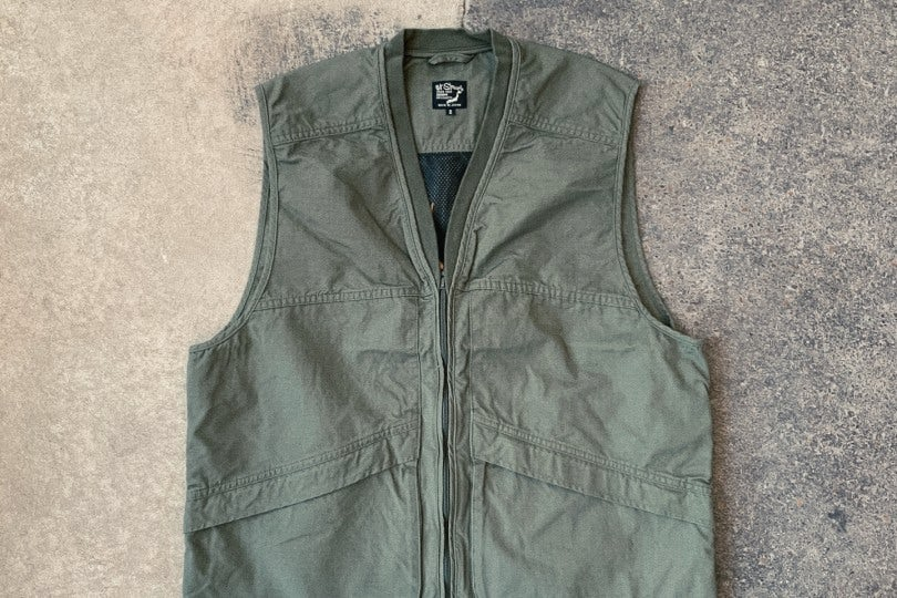 Orslow Utility Vest Army Green