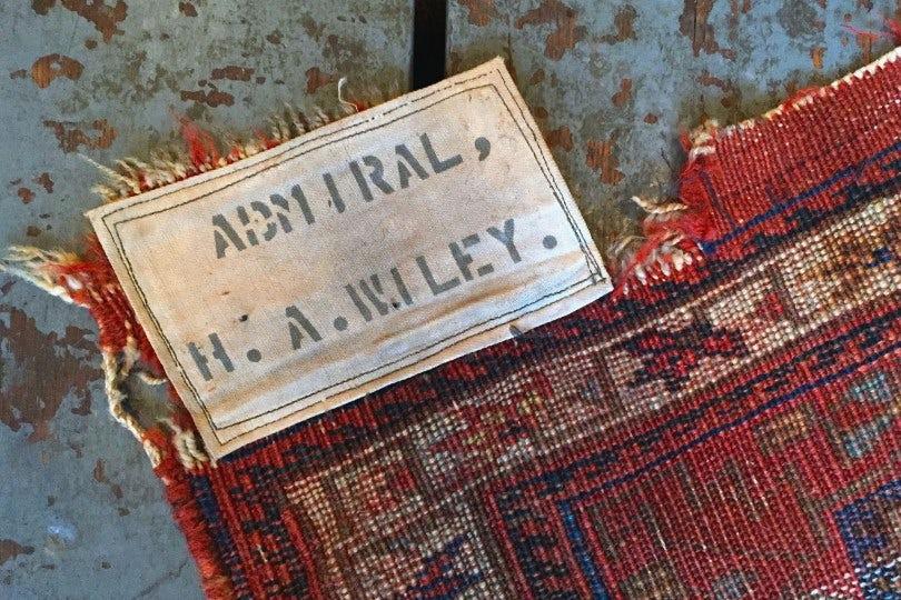 "Independence Vintage Goods Late 19th Century Afshar ""Admiral"" Rug Vintage"
