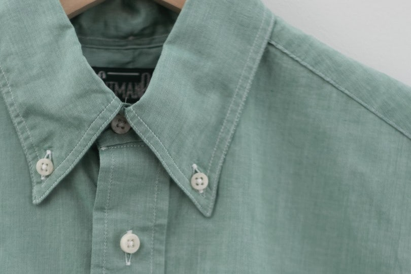 Gitman Bros. Vintage Short Sleeve Green Chambray