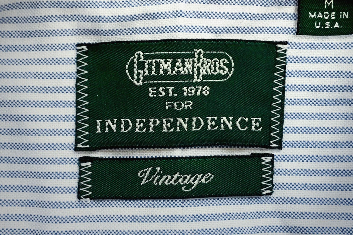 Gitman Bros. Vintage 1959 Independence Oxford Blue/White Stripe