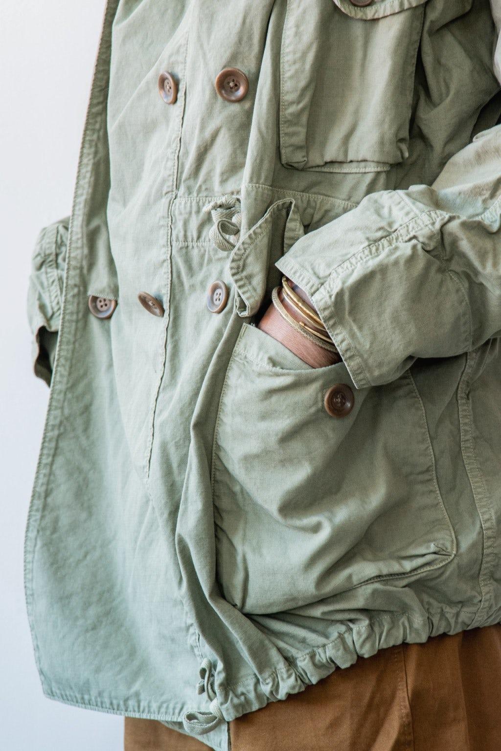 Kapital Rip Stop ARMY RING Coat Khaki