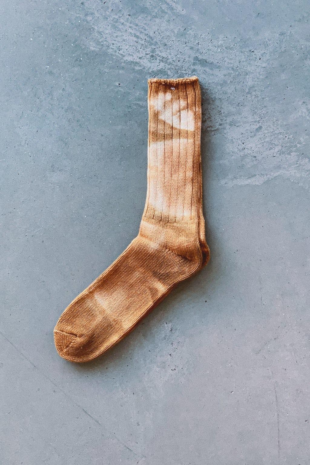 AnonymousIsm Crew Sock Tie Dye Light Red