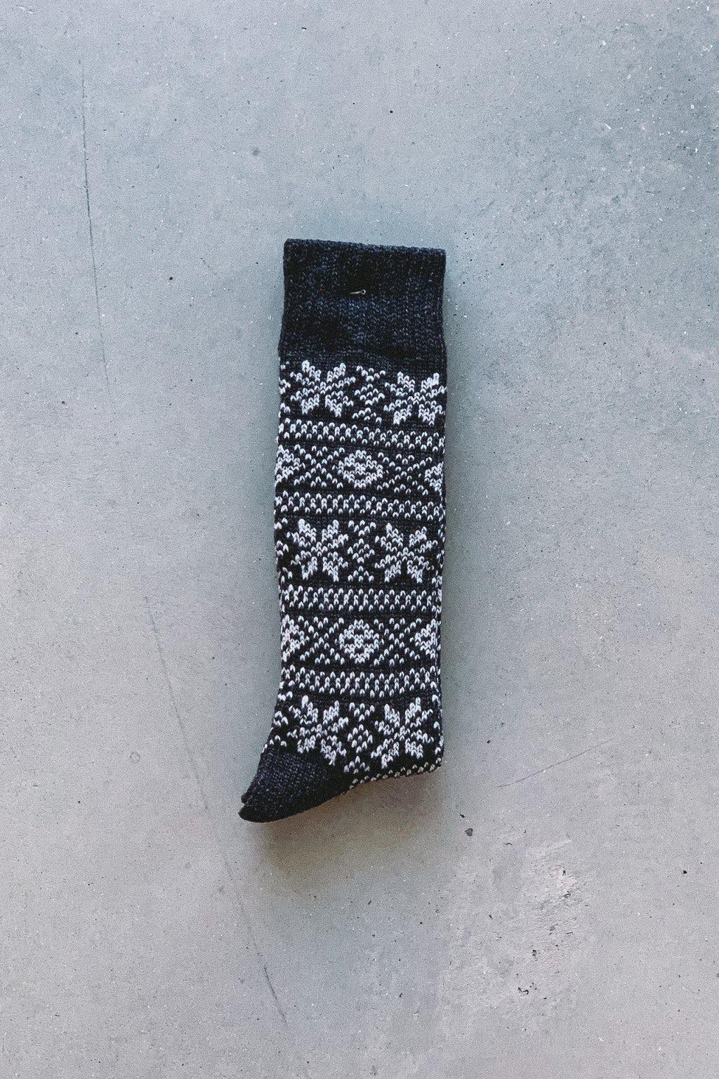 AnonymousIsm Crew Sock  Jacquard