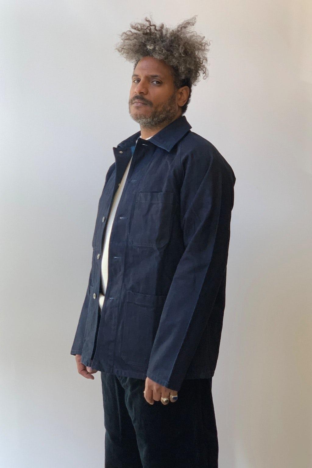 Arpenteur Raglan Jacket Dark Woad Overdyed Denim