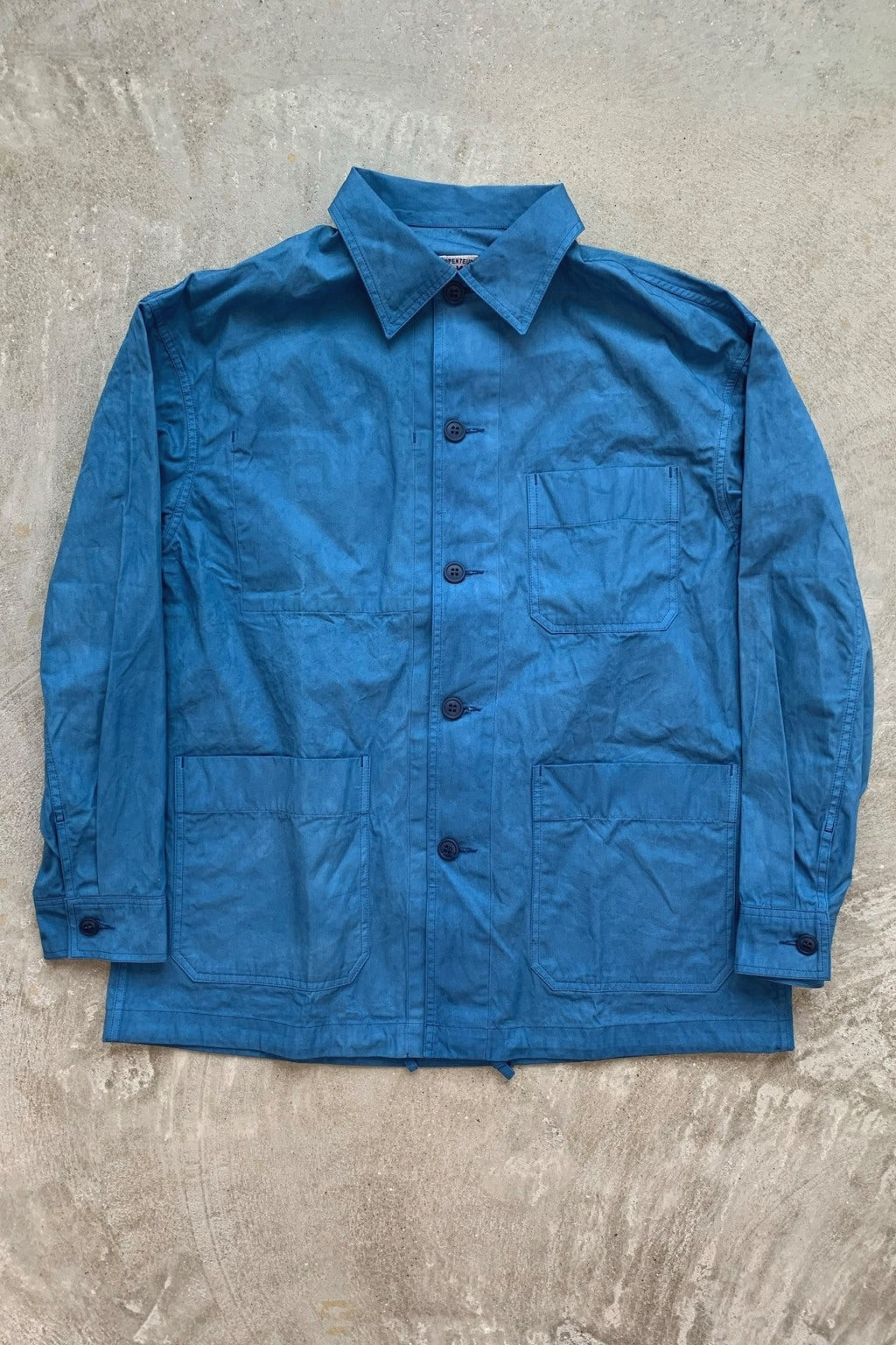 Arpenteur ADN Jacket  WOAD Blue Cotton Gabardine