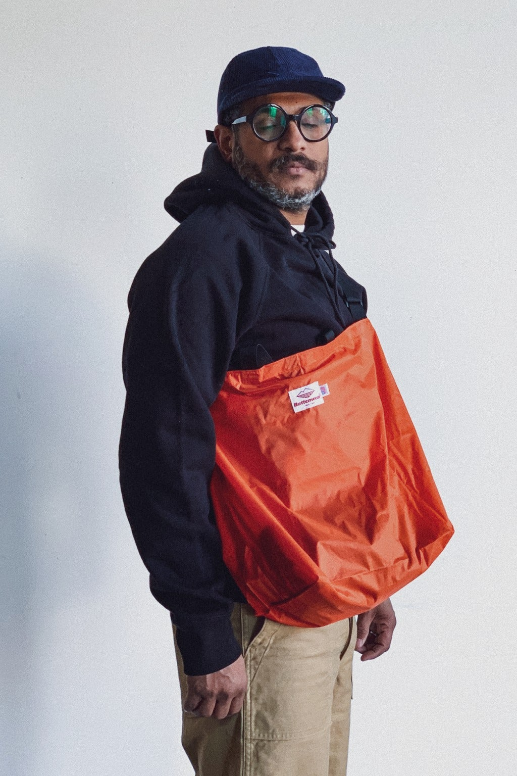 Battenwear Packable Tote Orange x Black