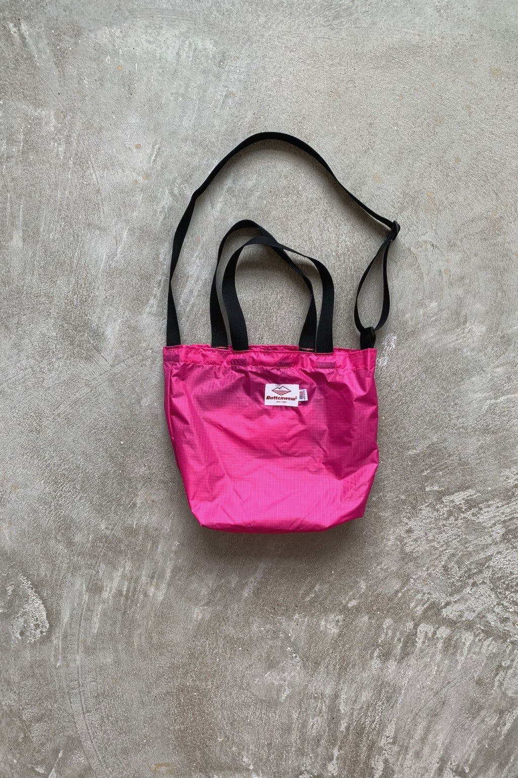 Battenwear Mini Packable Tote Fuchsia/Black