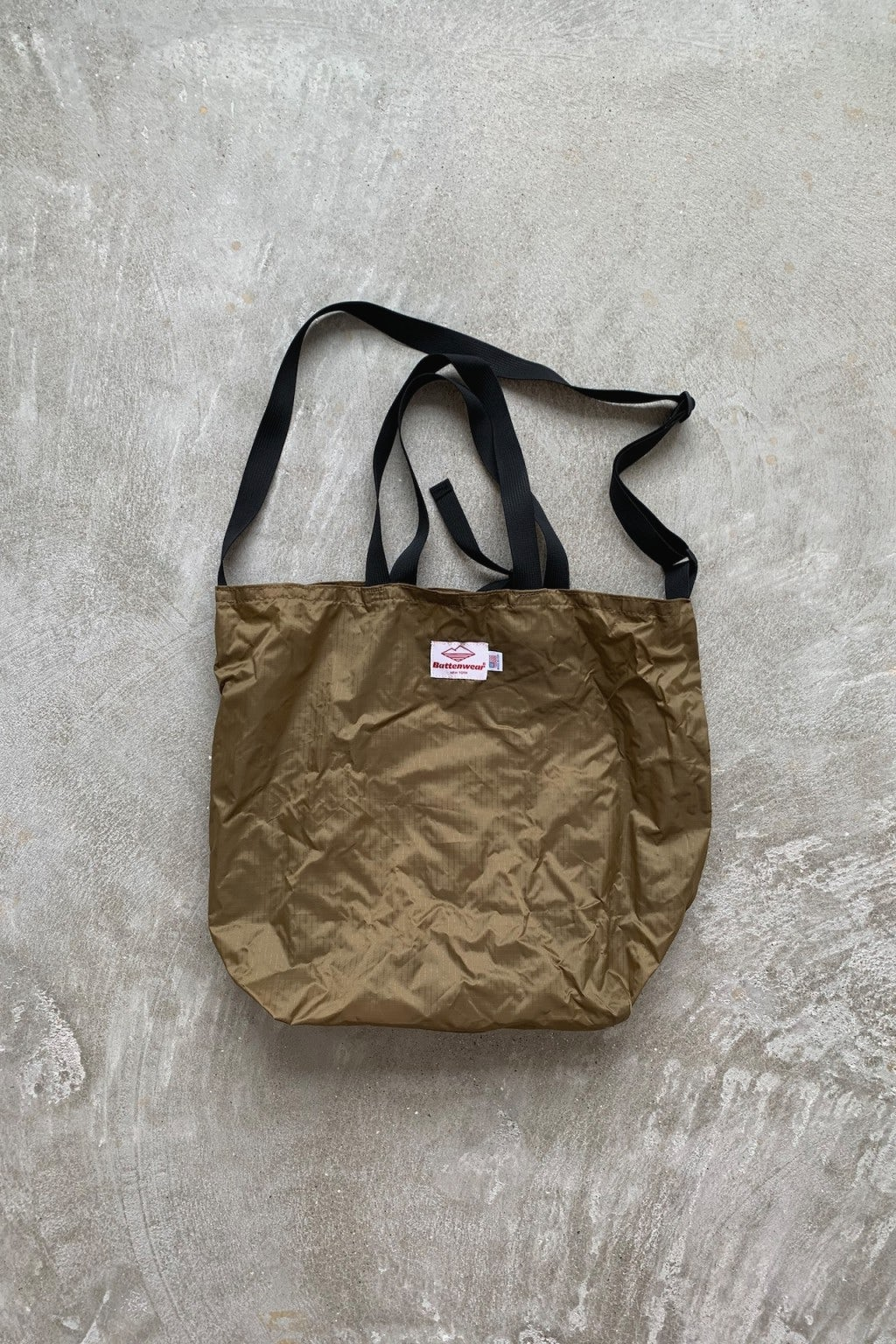 Battenwear Packable Tote Tan/Black