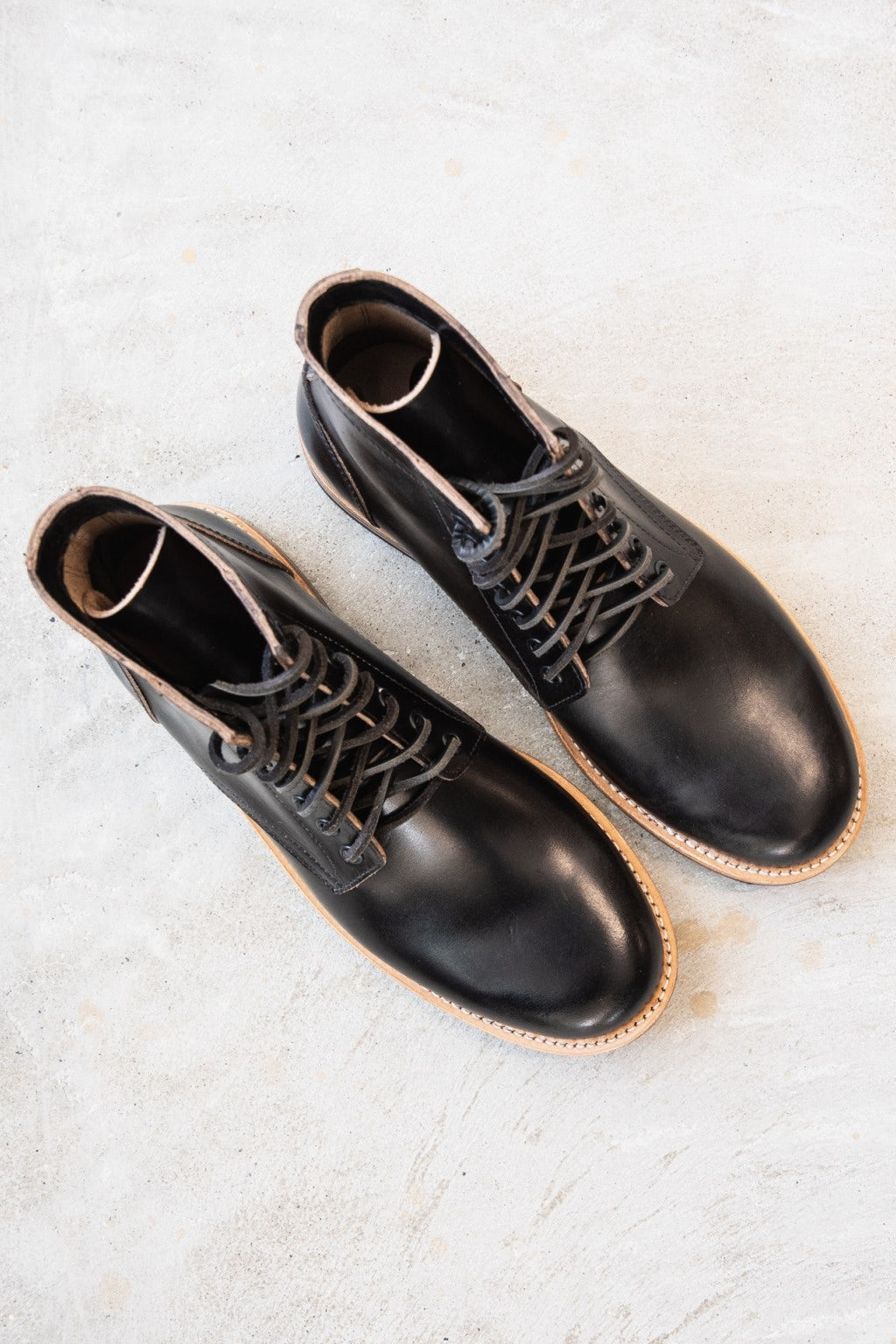 Oak Street Bootmakers Trench Boot Black Chromexcel