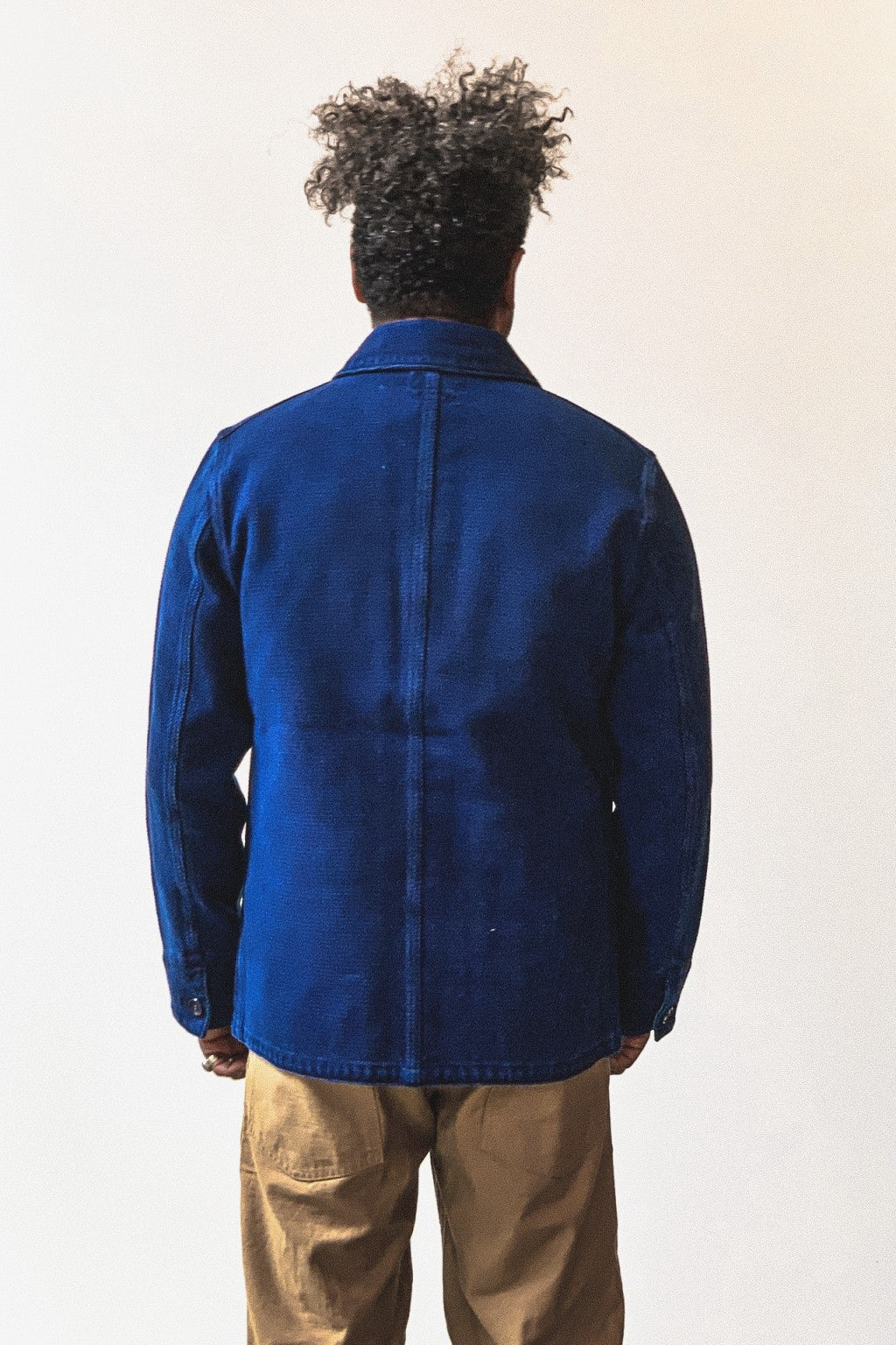 Blue Blue Japan Sashiko Coverall Jacket Pure Indigo Washed