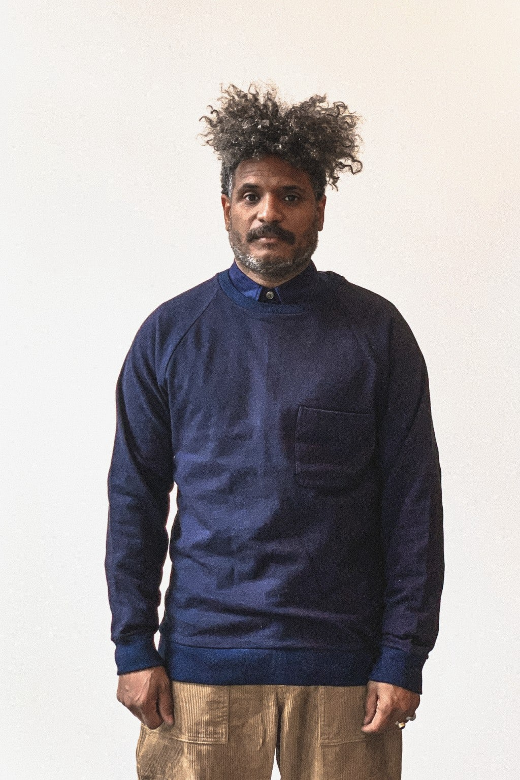 Blue Blue Japan Raglan Sweatshirt 50 Indigo