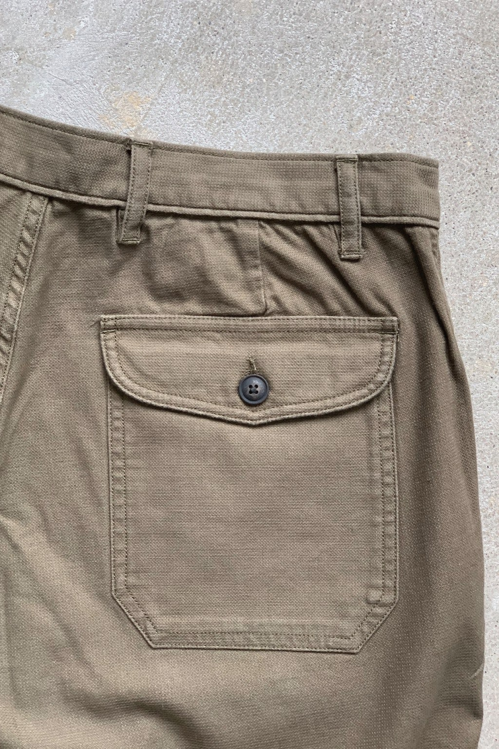 Corridor Olive Dobby Patch Pocket Shorts Olive