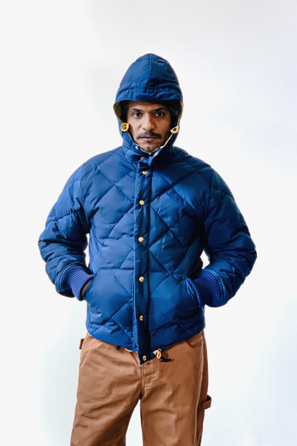 Crescent Down Works Expedition Guide Parka Navy/Khaki