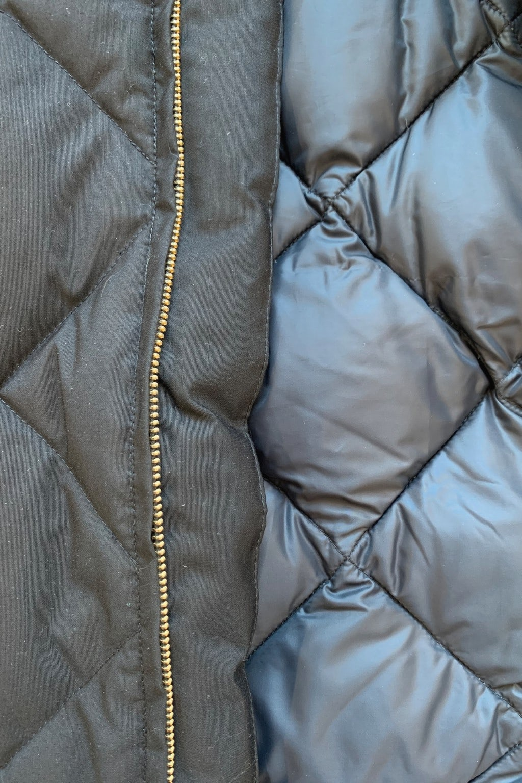 Crescent Down Works Diagonal Quilted Down Cold Weather Bomber Black