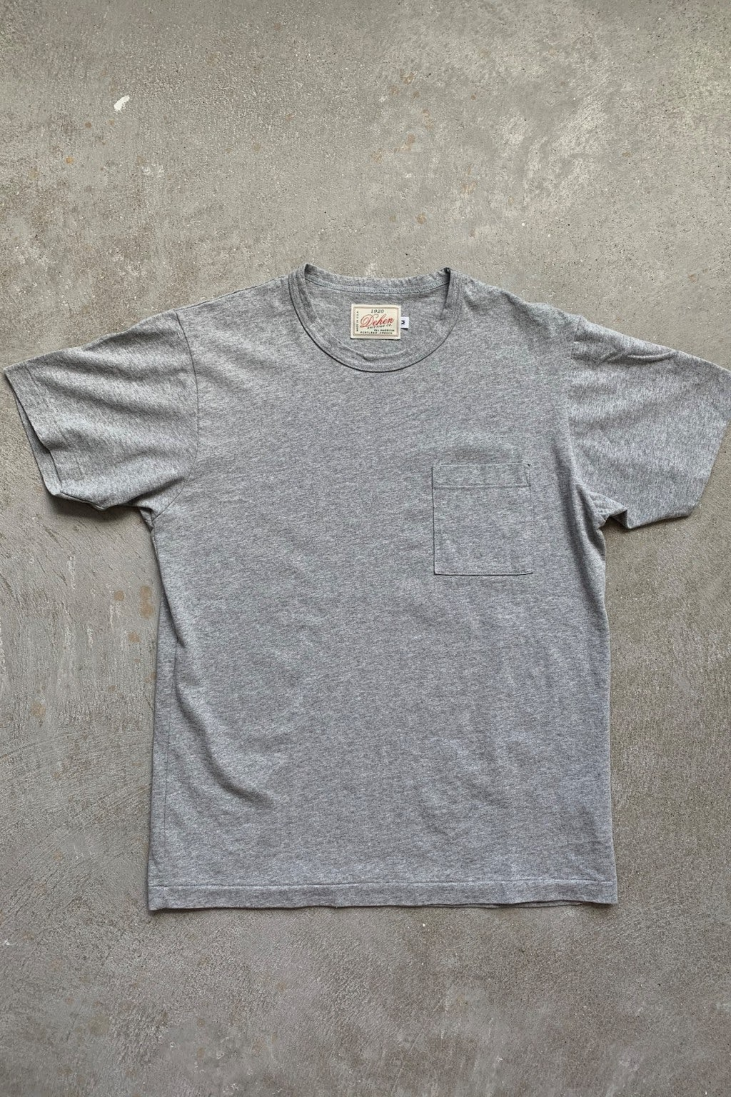Dehen 1920 Heavy Duty Tee - Single Pocket Heather Gray