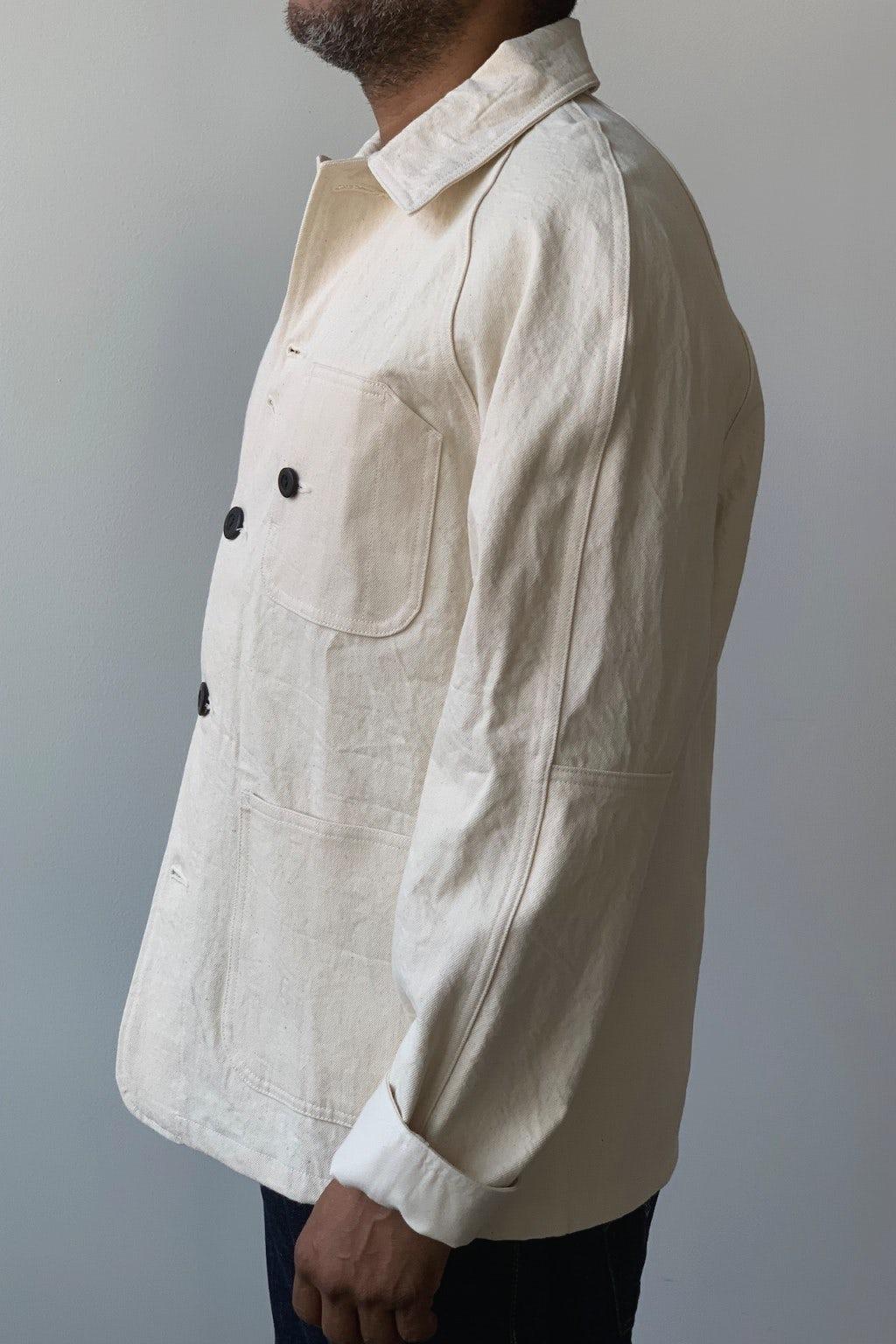Dehen 1920 Woven Chore Coat Natural