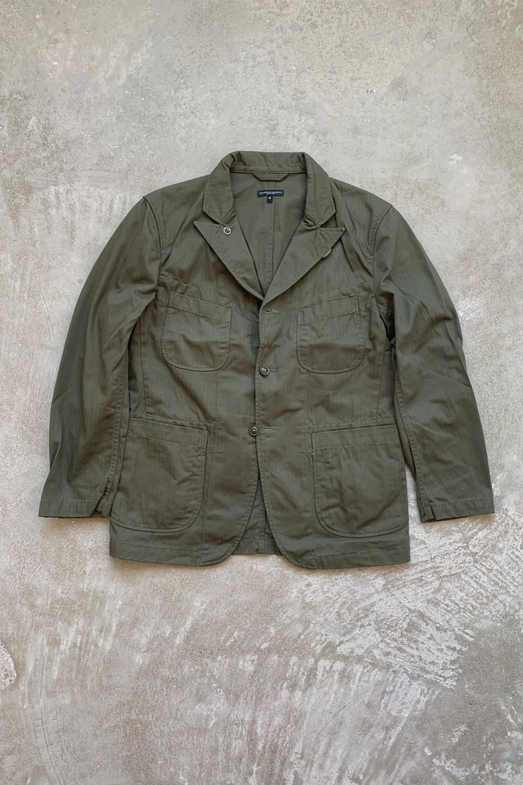 Engineered Garments Bedford Jacket  Olive Cotton Herringbone Twill