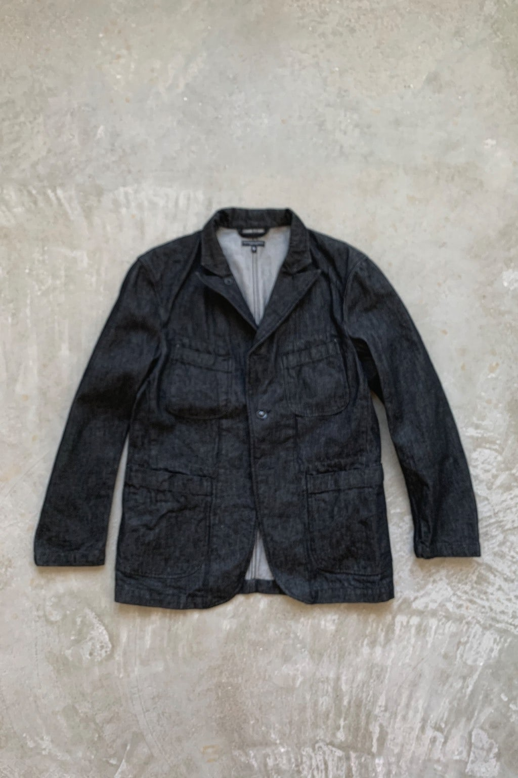 Engineered Garments Bedford Jacket  Black 12oz Cone Denim