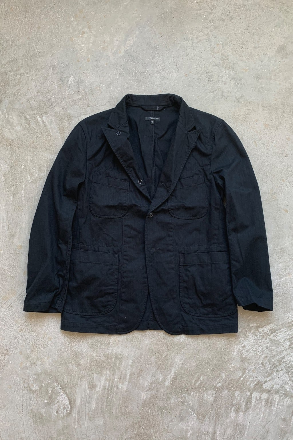 Engineered Garments Bedford Jacket  Black Cotton Herringbone Twill