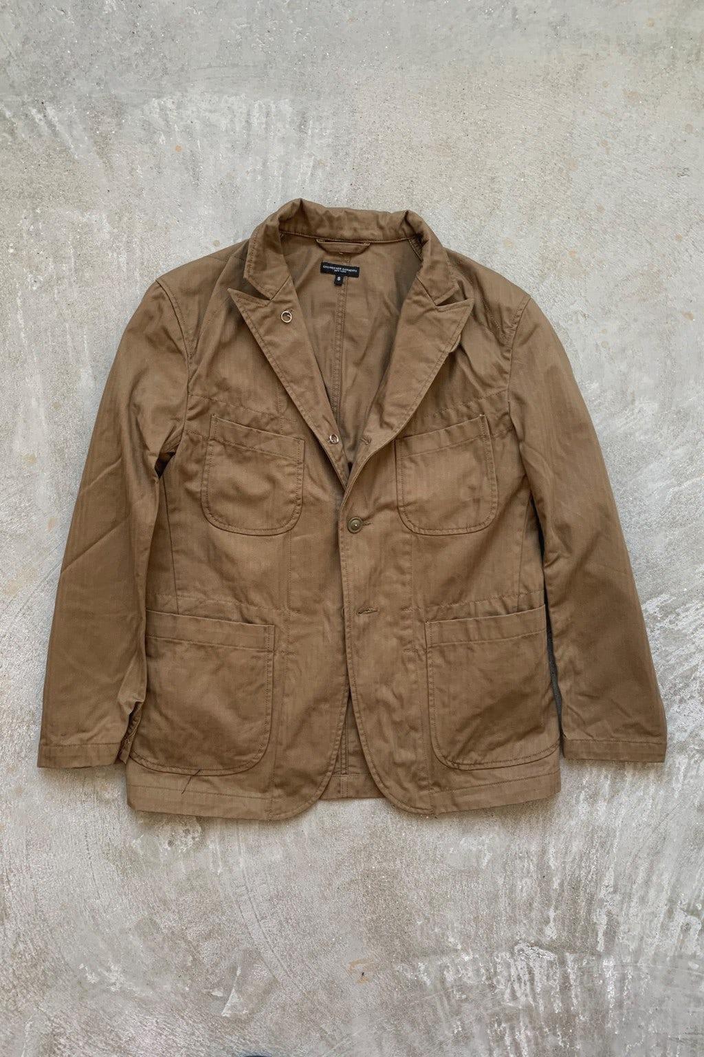 Engineered Garments Bedford Jacket  Brown Cotton Herringbone Twill