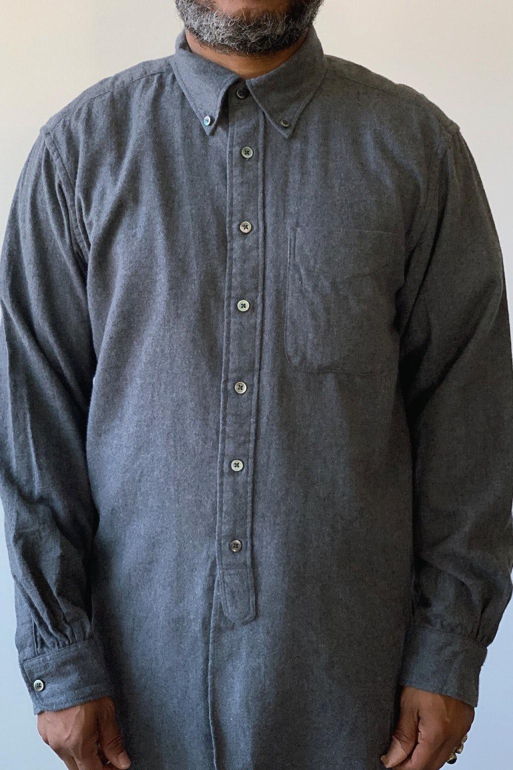 Engineered Garments 19th Century BD Shirt Dark Grey Brushed Cotton Twill
