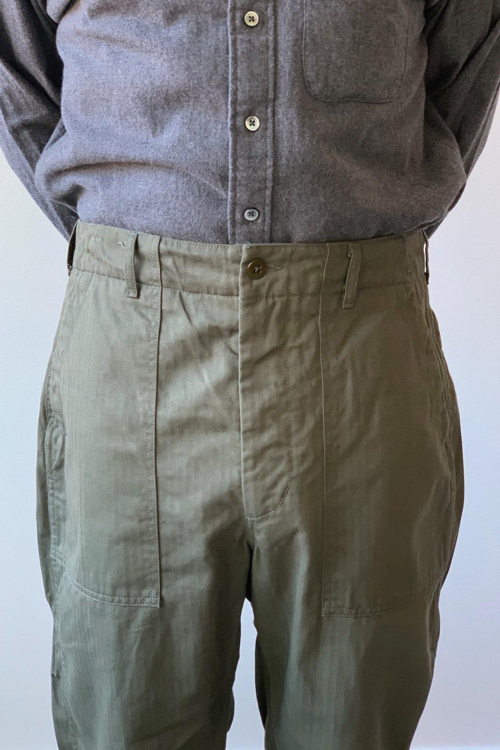Engineered Garments Fatigue Pant Olive Cotton Herringbone Twill