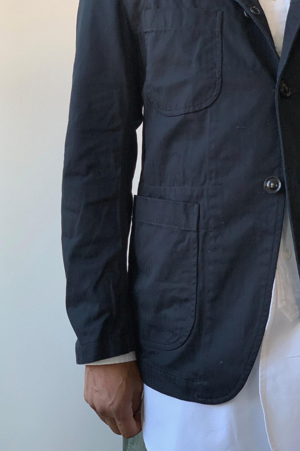 Engineered Garments Bedford Jacket  Black Cotton Herringbone Twill