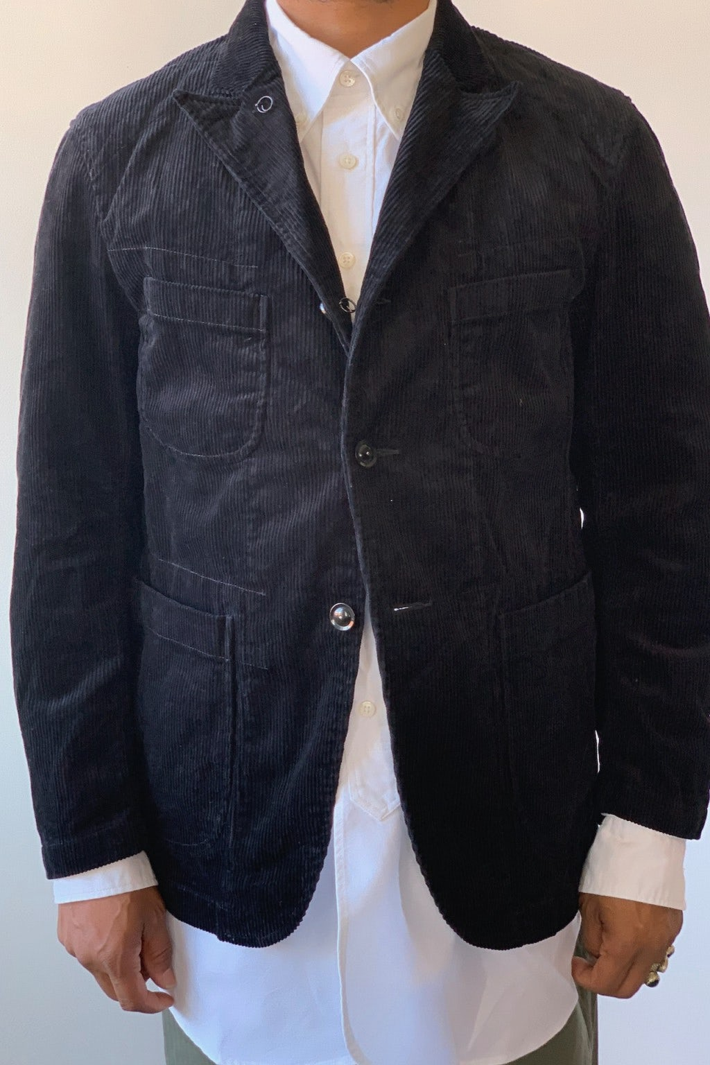 Engineered Garments Bedford Jacket Black 8W Corduroy