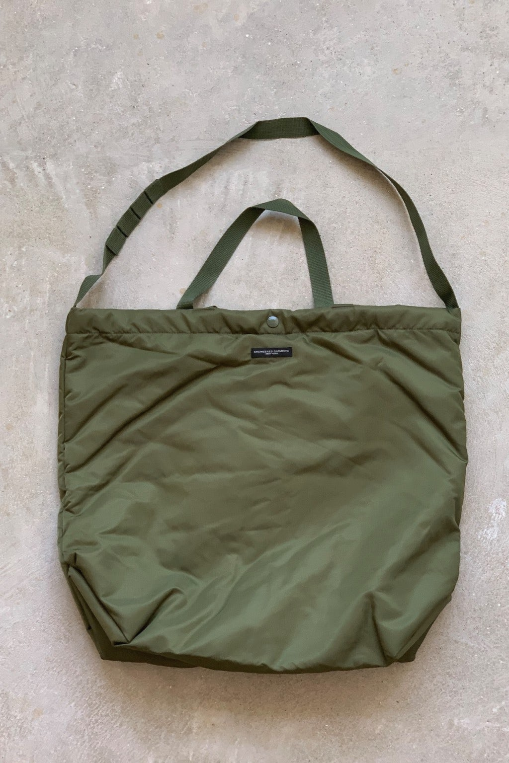 Engineered Garments Carry All Tote Olive Flight Satin Nylon